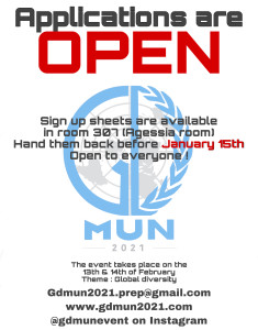 GDMUN 2021 poster